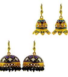 Buy Designer meenakari earrings combo of two combo-earring online