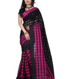 Buy pink hand woven cotton silk saree With Blouse below-500 online