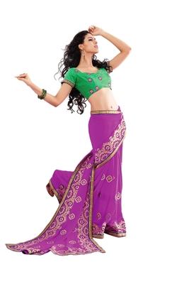 Nazraana-Lavender Party wear Designer Saree