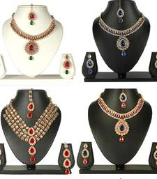 Buy Combo Offer of four multi colour necklace set jewellery-combo online