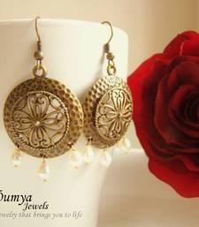 Buy Antique Brass Round earrings danglers-drop online