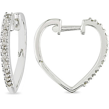 Cara sterling silver and certified Swarovski stone studded  Heart Shaped Earrings for women