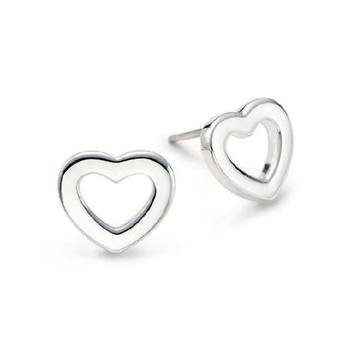 Cara  sterling silver and certified Swarovski stone studded Silver Heart of Trade earrings for Women