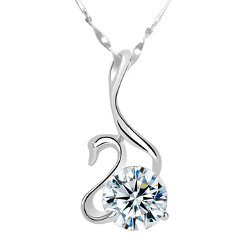 Cara sterling silver and Swan Swarovski stone pendant for Women