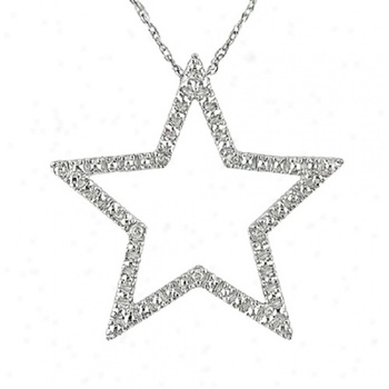 Cara sterling silver and  certified Swarovski stone Studded Star pendant for Women
