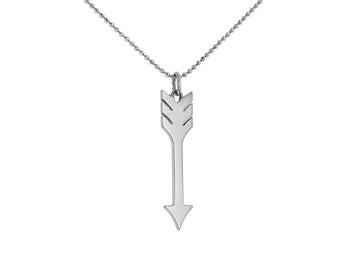 Cara sterling silver and  certified Swarovski stone Arrow through my heart pendant for Women