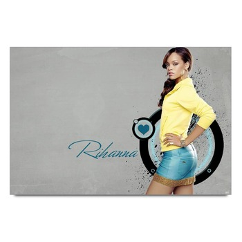Rihanna In Yellow Poster
