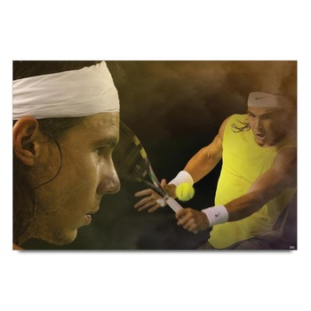 Rafael Nadal In Action Poster