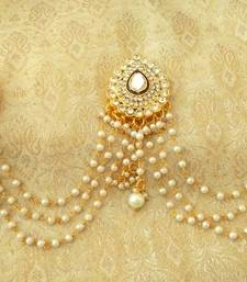 Buy Designer white bridal amboda hair pins hair accessories eid-jewellery online