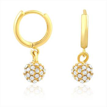Mahi Royal Gold Sparklers Earrings