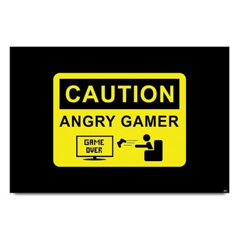 Caution Angry Gamer Poster