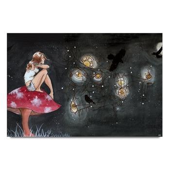 Girl Gazing At Sky Poster