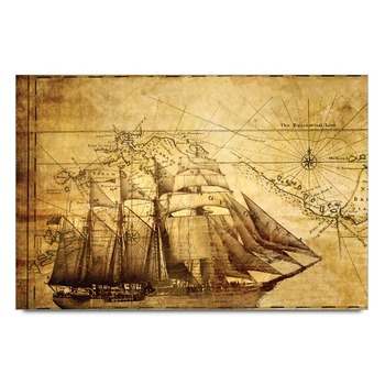 Ship Map Poster