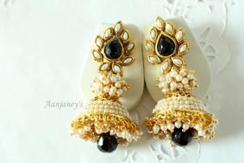 Aashiqui 2 earrings jhumkas pearl ethnic traditional indian handmade