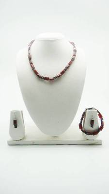 Beautiful Designer Pearl Set of Necklace, Earrings and Bracelet