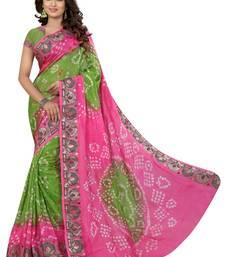 Buy multicolor hand woven bandhani saree With blouse bandhani-sarees-bandhej online