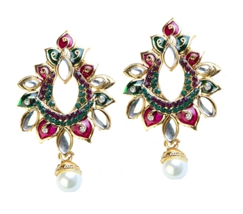 Dealtz Fashion Pink & Green Exquisite Design Earrings