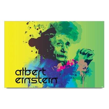 Albert Einstein Digital Painting  Poster