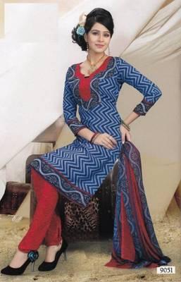 Elegant Crepe Dress Material Unstitched Salwar Suit D.No AM9051