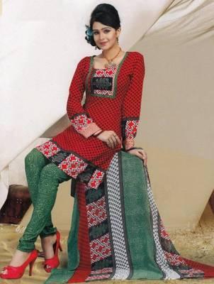 Elegant Crepe Dress Material Unstitched Salwar Suit D.No AM9058