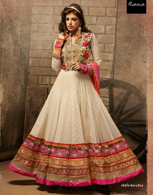 Buy Party Wear Designer Floor Touching Anarkali Salwar