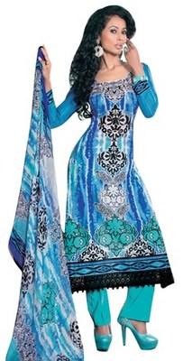 Triveni Appealing Floral Printed Cotton Salwar Kameez TSXITSK7609