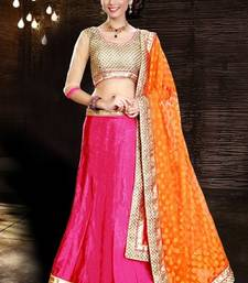 Buy Smashing pink fashionable lehenga choli ghagra-choli online