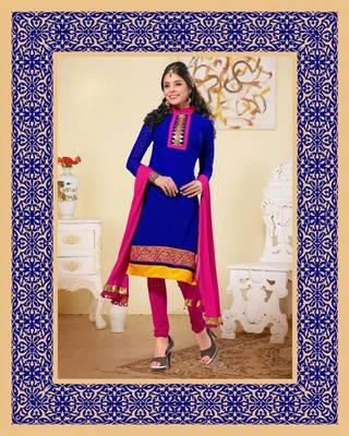 Navi Blue color salwar suit