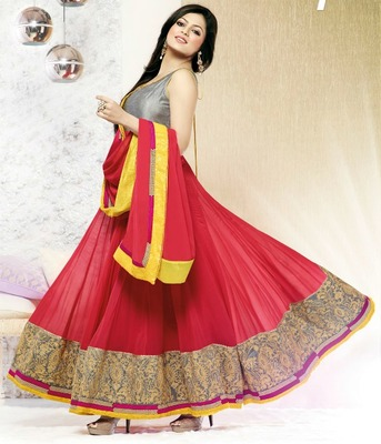 Madhubala Awesome Designer Long Anarkali Suit
