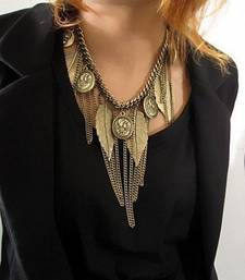 Buy Leaf Charm Neck Piece Necklace online