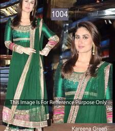 Buy Green Designer Embroidered Anarkali suit lace online
