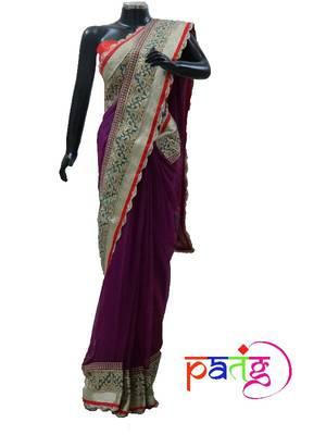 Purple Zari Detail Sari