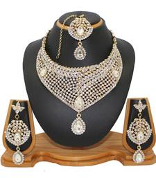 Buy White studded_jewellery Diamond necklace-sets necklace-set online