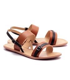 Buy Tan genuine leather casual footwear eid-footwear online