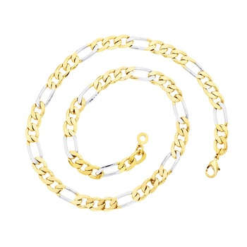 BeBold Gold Stainless Steel Gold Plated Link Multicolor Chain for Boys and Men