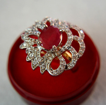 Designer AD ring with Ruby