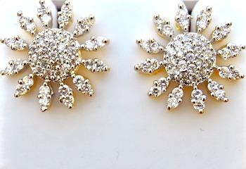 Sunflower Diamond Studs