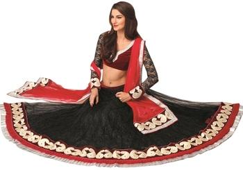 Triveni Awesome Velvet Bordered Net Indian Latest Exclusive Lehenga Choli