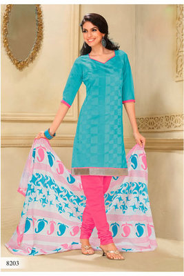 Casual Wear Blue Dress Material