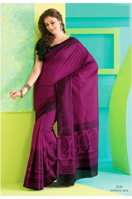 Gorgeous Magenta Raw Silk Saree