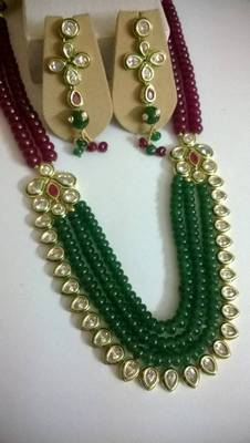 kundan and beads party necklace