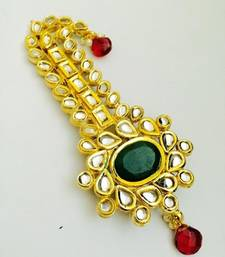 Buy green golden kundan work kalangi hair-accessory online