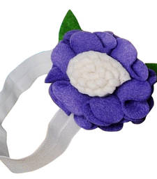 Buy Indian Baby Headband in Adorable White and Blue Flower hair-accessory online