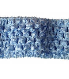 Buy Designer Sky Blue Crochet Headband for Baby Girls in India hair-accessory online
