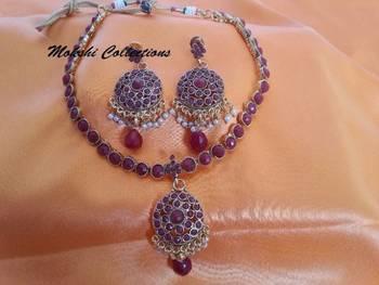 Lovely Ruby Necklace Set