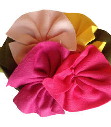 Buy Newborn Soft Cotton LimeGreen Flower Bunch Headband. Baby Hair Accessory hair-accessory online