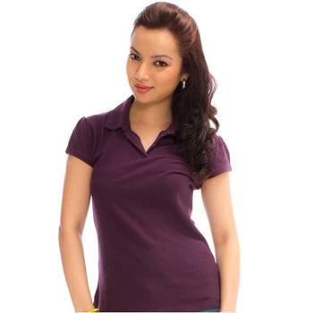 """hvm Wine V-Neck Women T-Shirt.SIZE-L-90CM"