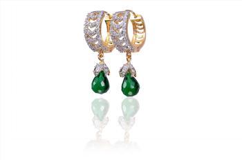 Exotic Green American Diamond Earrings