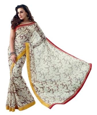 Triveni Latest Indian Designer Charming Floral Motif Casual Printed Saree