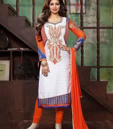 Buy Off White Bhagalpuri embroidered semi stitiched salwar with dupatta ayesha-takia-salwar-kameez online